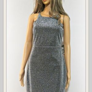 EXPRESS BRAND NEW SILVER SHIMMERING DRESS SIZE 4